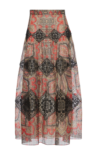Medium vilshenko print vineta high waisted maxi skirt