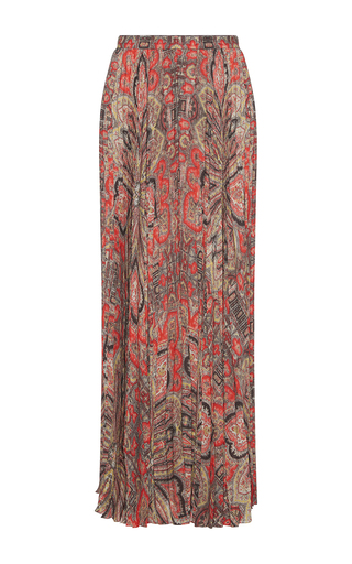 Medium vilshenko print pina printed pleated maxi skirt