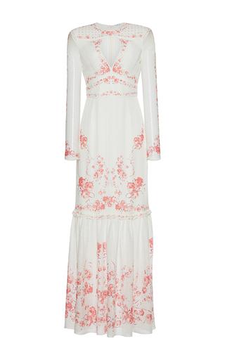 Medium vilshenko print harley keyhole long sleeve maxi dress