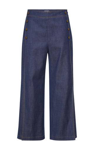 Medium vilshenko dark wash bella high waisted cropped sailor pants