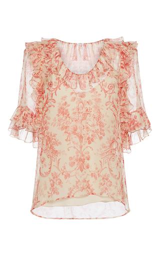 Medium vilshenko print sabrina printed ruffle blouse
