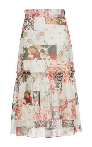 Medium vilshenko print iona printed high waisted midi skirt
