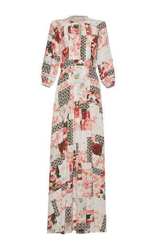 Medium vilshenko print gizella patchwork maxi dress