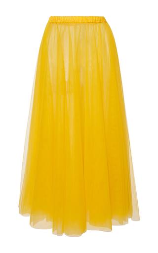 Medium rochas yellow layered tulle column skirt 2