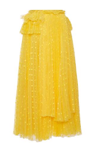 Medium rochas yellow plumetis tulle layered skirt