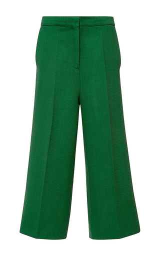 Medium rochas green wide legged cropped pant