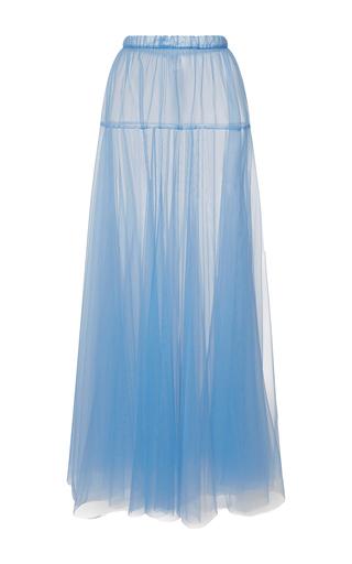 Medium rochas light blue layered tulle a line skirt
