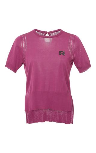 Medium rochas pink short sleeve cotton knit top 2