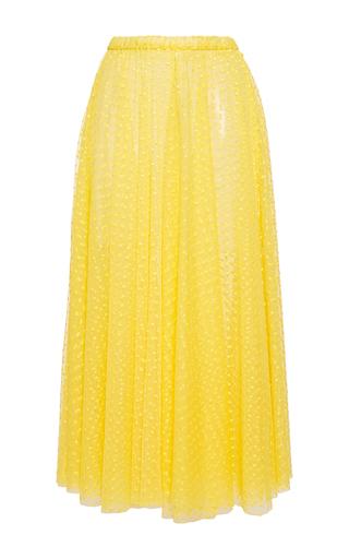 Medium rochas yellow layered plumetis tulle a line skirt