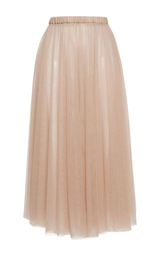 Medium rochas pink layered tulle column skirt 3