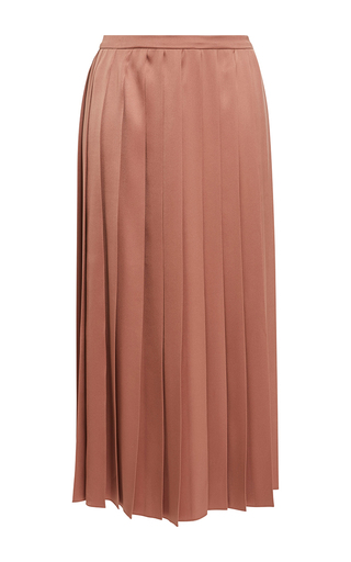 Medium rochas pink pleated silk column skirt