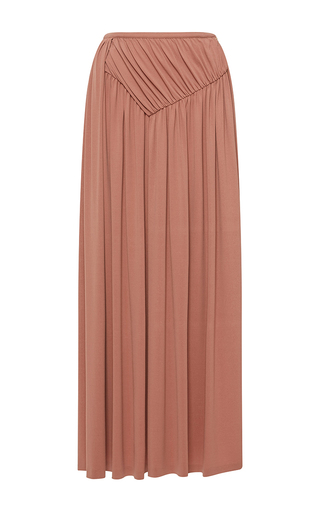 Medium rochas pink draped high waist midi skirt