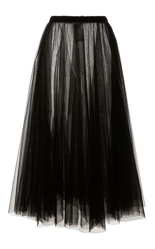 Medium rochas black layered tulle a line skirt 2