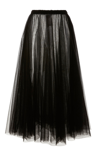Medium rochas black layered tulle a line skirt 2
