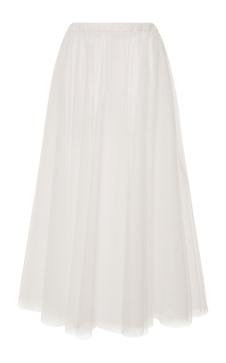 Medium rochas white layered tulle a line skirt 3
