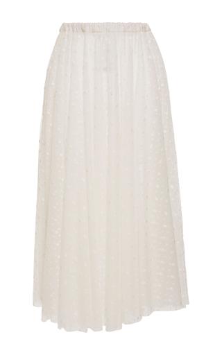 Medium rochas white tulle plumetis high waist skirt