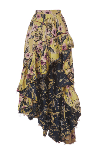 Medium philosophy di lorenzo serafini floral a line wrap skirt