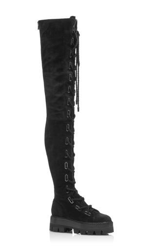 Medium ellery black go go thigh high hiker boot