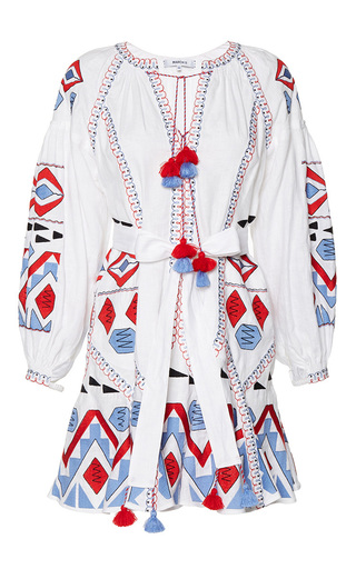 Medium march11 white kilim embroidered mini dress