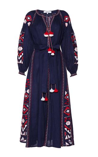 Medium march11 navy kilim embroidered maxi dress