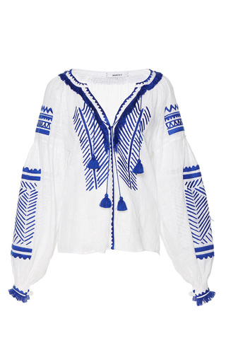 Medium march11 white namibia linen embroidered blouse
