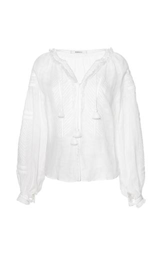 Medium march11 white dragon flower linen blouse