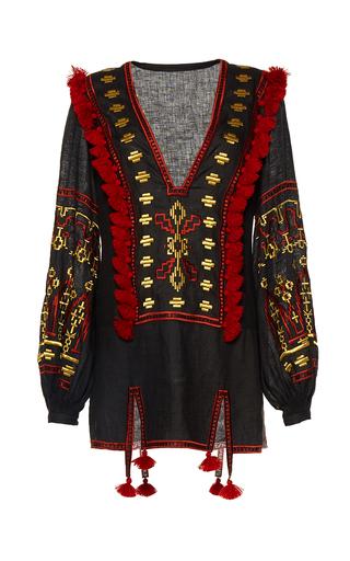 Medium march11 black black alina embroidered mini dress