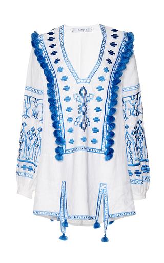 Medium march11 white alina embroidered mini dress