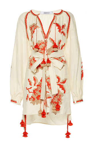 Medium march11 nude rose power mini tunic dress