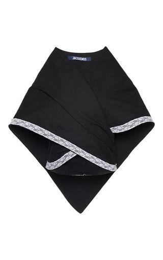 Medium jacquemus black provencial oversized cape