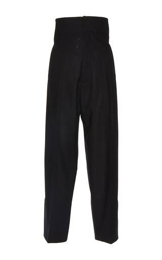 Medium jacquemus black high waisted black button back trousers