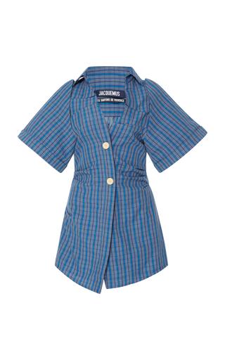 Medium jacquemus blue plaid mini dress
