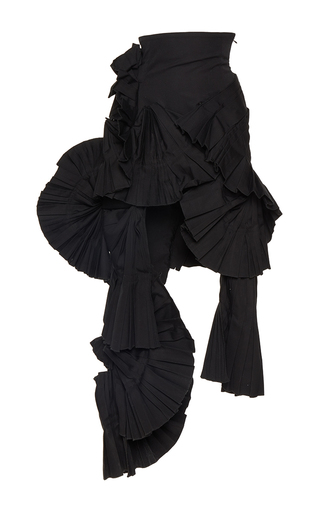 Medium jacquemus black asymmetric high waisted skirt