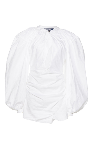 Medium jacquemus white plunging keyhole dress