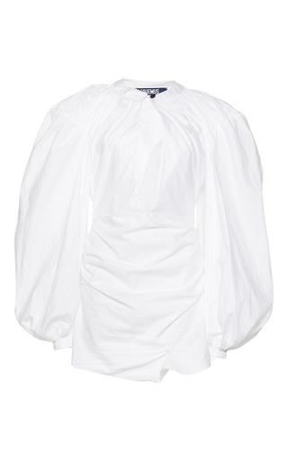 Medium jacquemus white plunging keyhole dress