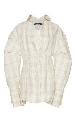 Medium jacquemus print plaid drop shoulder dress