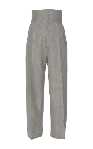 Medium jacquemus plaid high waisted button back trousers