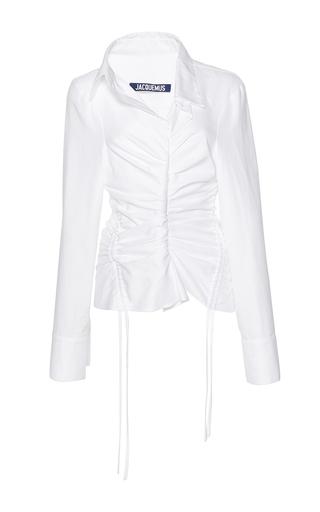 Medium jacquemus white cinched collar shirt