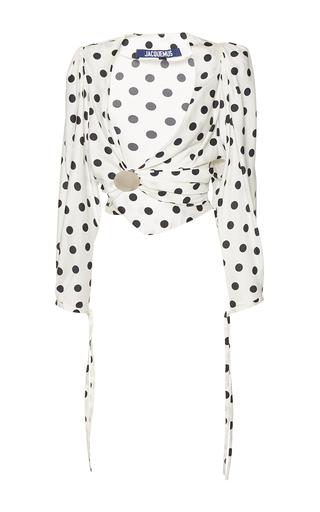 Medium jacquemus print polka dot cropped blouse