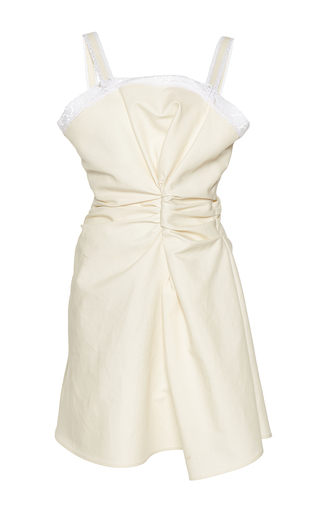 Medium jacquemus off white lace trim mini dress
