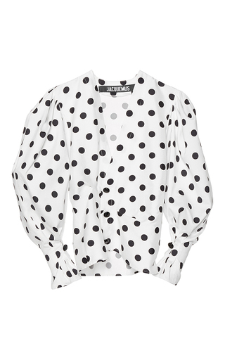 Medium jacquemus print structured polka dot blouse