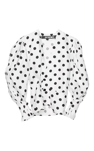 Medium jacquemus print structured polka dot blouse