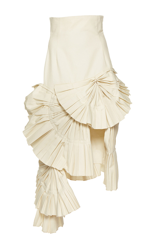 Medium jacquemus white pleated asymmetric skirt