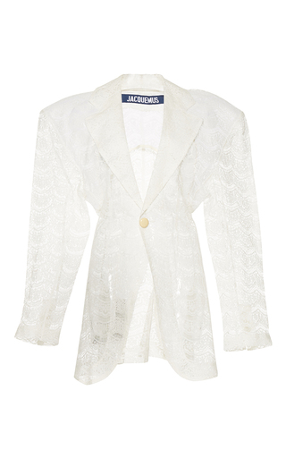 Medium jacquemus white sheer lace jacket