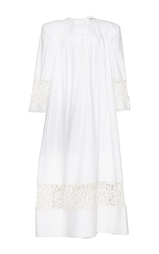 Medium jacquemus white contrasting lace maxi dress