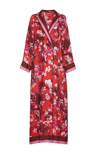 Medium for restless sleepers print roda printed silk robe