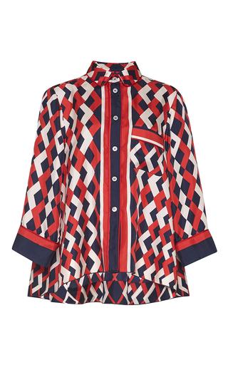 Medium for restless sleepers print artemide silk shirt