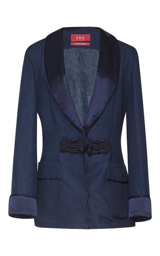 Medium for restless sleepers navy armonia linen jacket