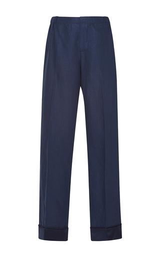 Medium for restless sleepers navy etere linen pants