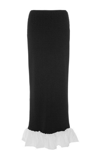 Medium ellery black misaki rib column skirt